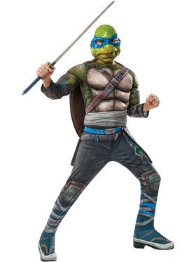 Teenage Mutant Ninja Turtles Leonardo Deluxe Boys Costume