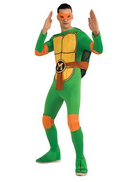 Teenage Mutant Ninja Turtles Michelangelo Classic Adult Costume