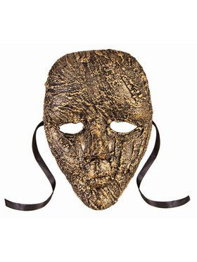 Textured Full Face Mask Adult Gold