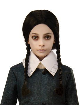 The Addams Family Kid's Wednesday Wig Accessory
