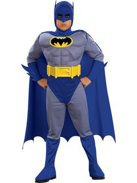 The Brave and the Bold Deluxe Child Muscle Chest Batman Costume