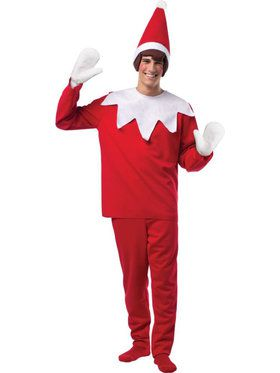 Mens The Elf On The Shelf Costume