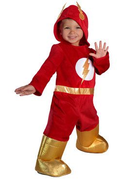 The Flash Toddler Premium Jumpsuit Costume