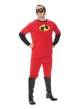 Adult The Incredibles Mr. Incredible Shirt and Pants Costume