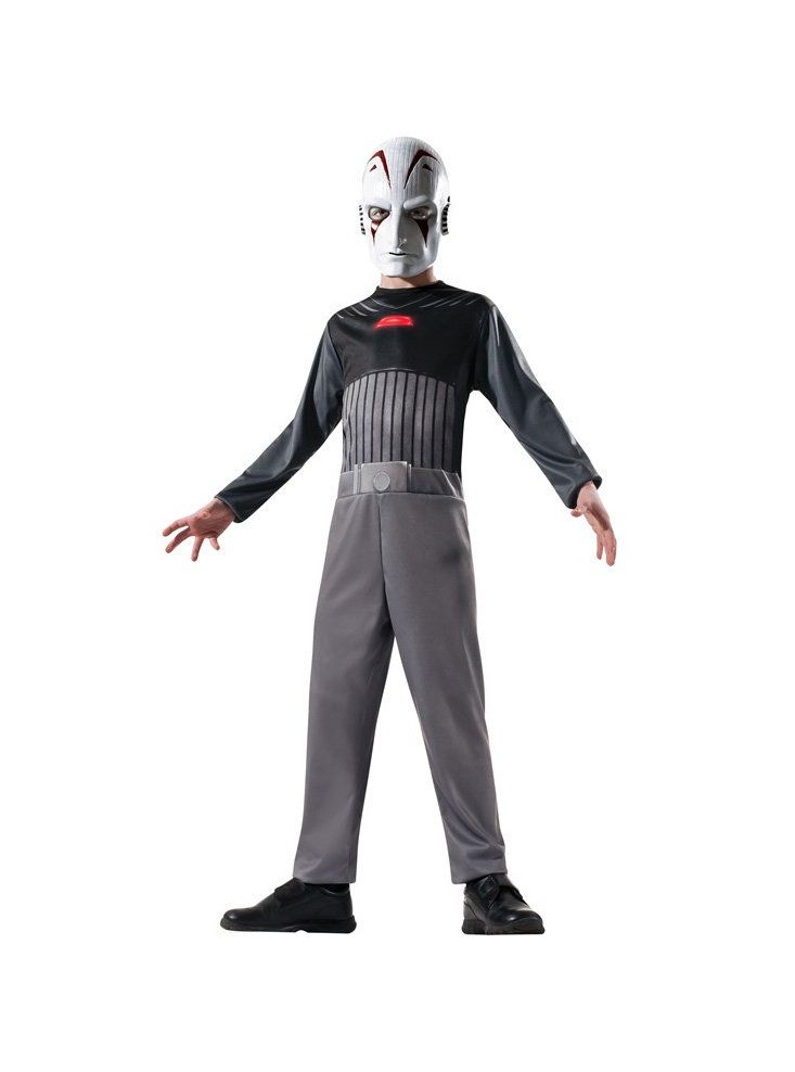 """Details about  /Disney Star Wars Rebels Sith Inquisitor Costume Mask Jumpsuit Child /""""Size 8-10/"""""""