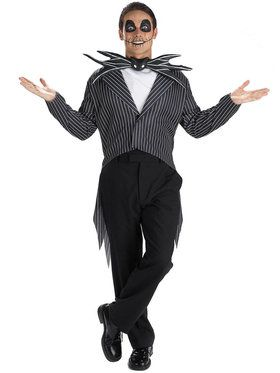 The Nightmare Before Christmas Jack Skellington Costume For Adults