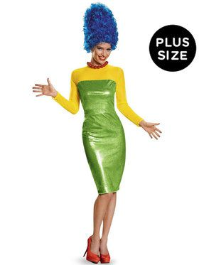 The Simpsons: Deluxe Plus Size Marge Costume For Women