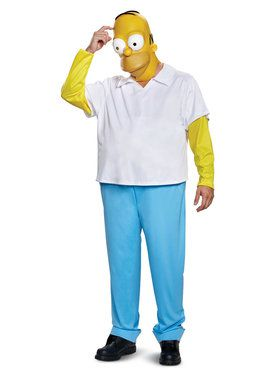 Homer Simpson Deluxe Costume for Adults