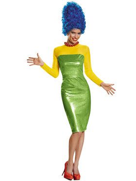 The Simpson's Marge Deluxe Women's Costume