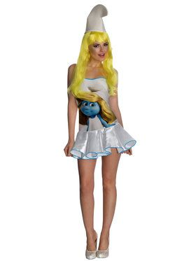 The Smurfs Smurfette Dress Sexy Adult Costume