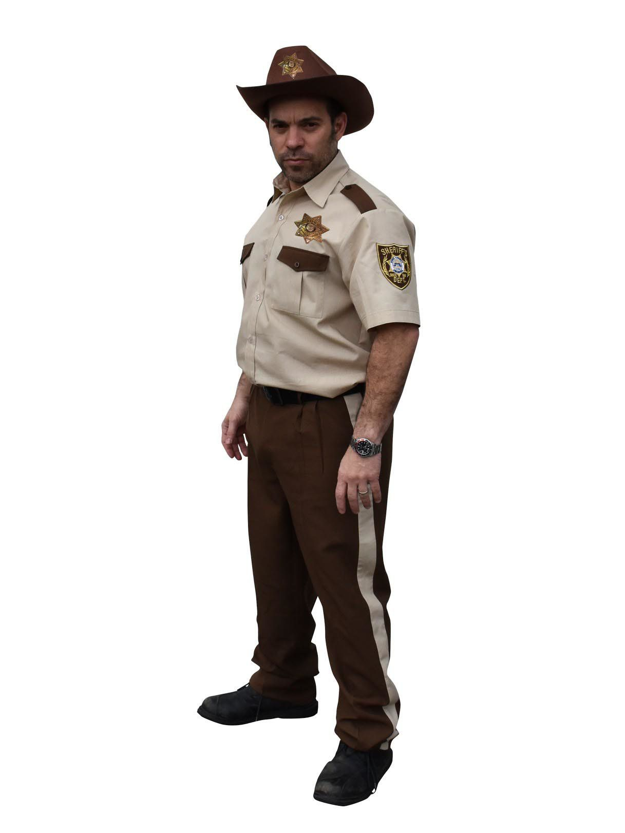 adult rick grimes sheriff the walking dead costume - mens costumes