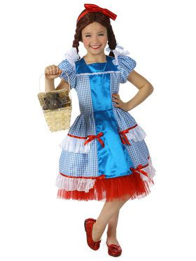 Girls Sassy Dorothy The Wizard Of Oz Costume