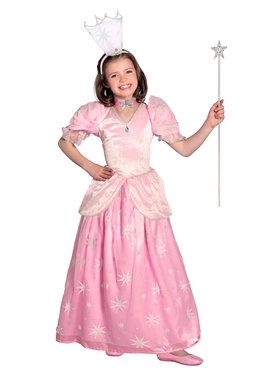 Girls Pocket Princess The Wizard Of Oz Glinda Costume