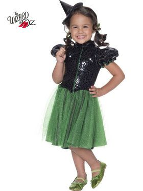 The Wizard of Oz Wicked Witch Sequin Girl's Costume