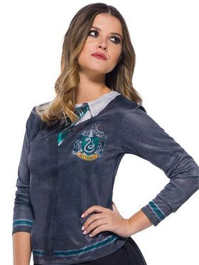 The Wizarding World Of Harry Potter Slytherin Adult Costume Top