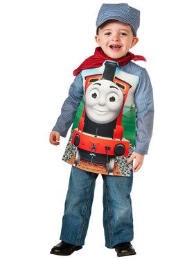 Thomas the Tank Deluxe James Train & Engineer Boy's Costume