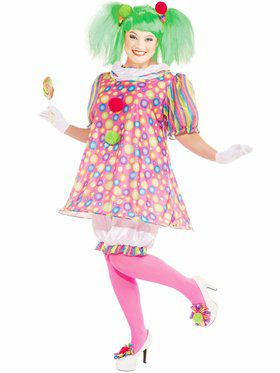 Tickles The Clown Womens Plus Size Costume