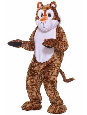 Tiger Deluxe Mascot Costume For Adults