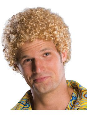 Tight Fro Blonde Wig For Adults