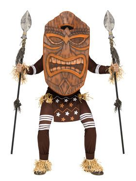 Tiki Warrior Men's Costume