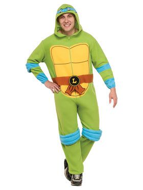TMNT Adult Leonardo Jumpsuit Men's Costume