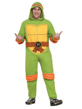 TMNT Adult Raphael Jumpsuit Men's Costume