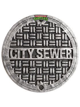 TMNT2 Child Sewer Cover Shield 12 Inch