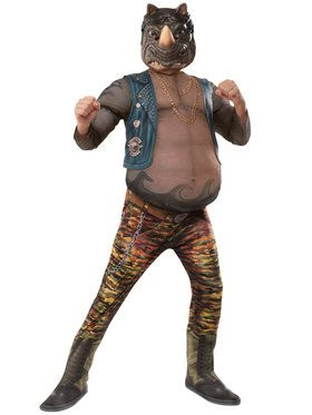 TMNT2 Deluxe Rocksteady Boy's Costume