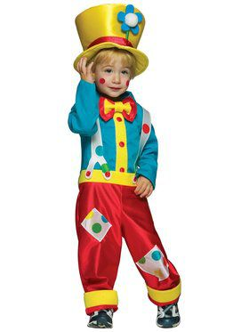 Toddler Colorful Boy Clown Costume