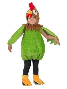 Green Rooster Toddler Costume