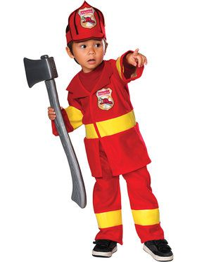 Little Fireman Junior Costume