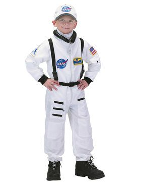 Toddler Jr. White Astronaut Suit Costume