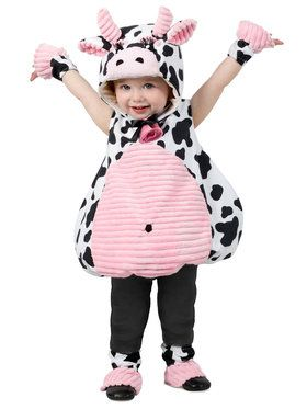 Pink Belly Cow Toddler Costume