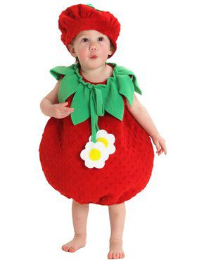 Bubble Strawberry Child Costume