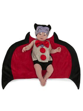 Newborn Drooly Drac Swaddle Wings Costume