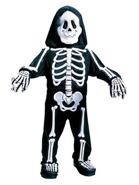 Toddler Totally White Skelebones Costume