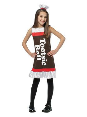 Tootsie Roll Ruffle Dress Costume For Children