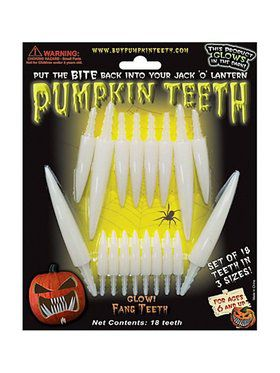 Top and Bottom Glow in the Dark Pumpkin Fangs