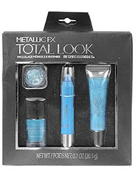 Total Look Metallic FX Makeup Blue 4 Piece Set