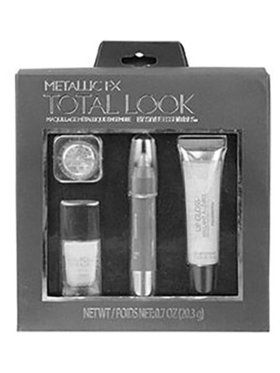 Total Look Metallic FX Makeup Silver 4 Piece Set