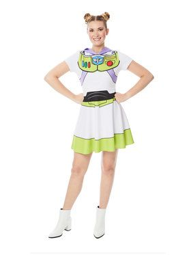 Women's Toy Story Buzz Lightyear Hooded Dress Costume