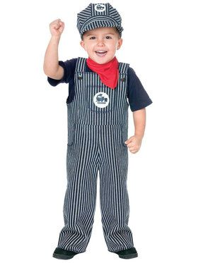Train Engineer Suit Costume For Toddlers