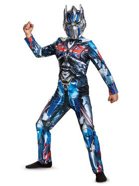 Transformer 5 Optimus Prime Classic Costume For Children