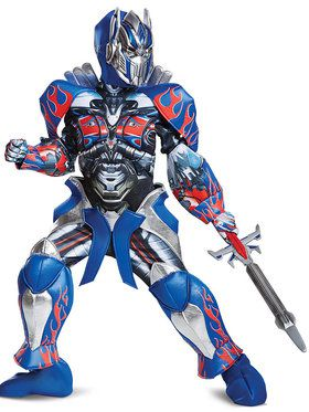 Transformer 5 Optimus Prime Prestige Costume For Children