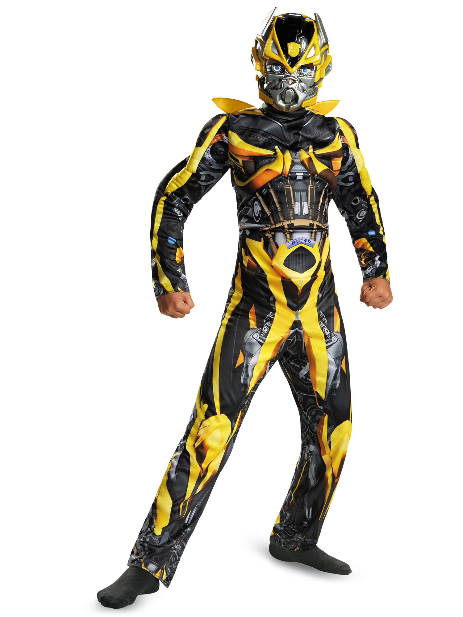 Disguise Inc Transformers Bumblebee Classic Muscle Costum...