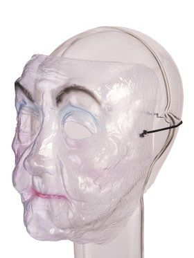 Transparent Old Lady Mask for Adults