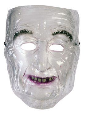 Transparent Old Man Mask for Adults
