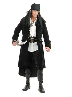 Treasure Island Pirate Jacket Men's Costume