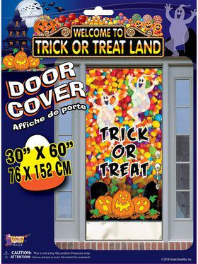 Trick Or Treat Land Door Cover Decoration