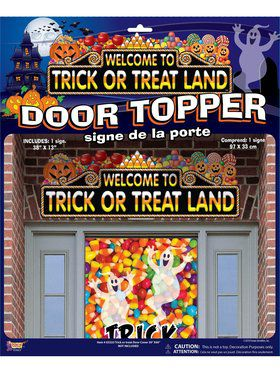 Trick Or Treat Land Door Topper Decoration